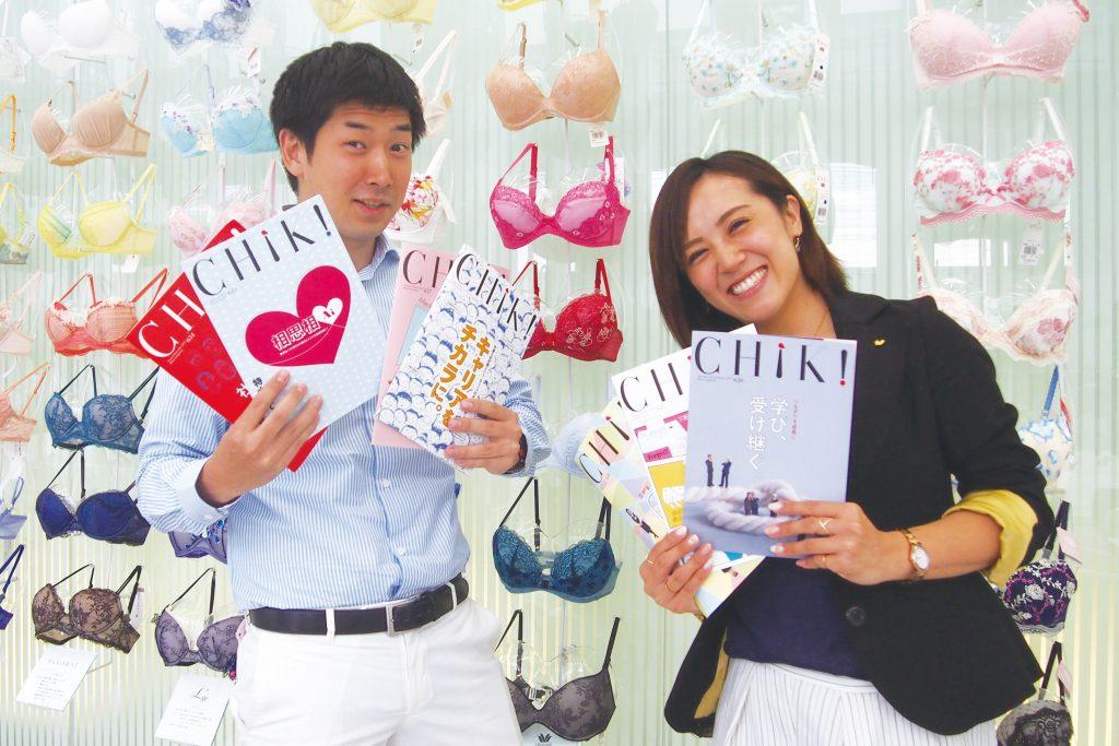 株式会社ワコールホールディングス IR・広報室 広報担当 原 敬寛さん(左)、谷垣裕子さん(右)