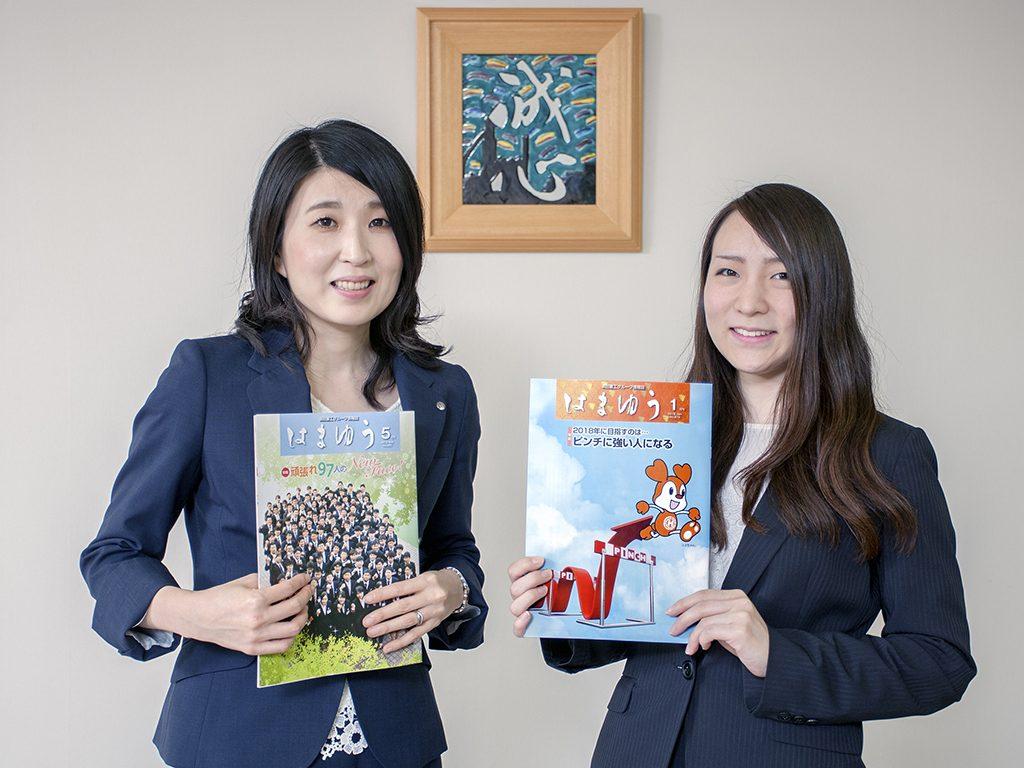 左から広報グループマネジャー 古賀 明日香さん、広報グループ 前田 麗保さん