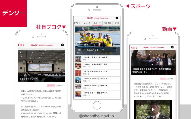 デンソー_社内報のアプリ